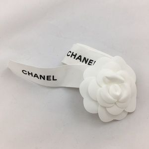 Authentic Chanel Ribbon with Camellia Flower